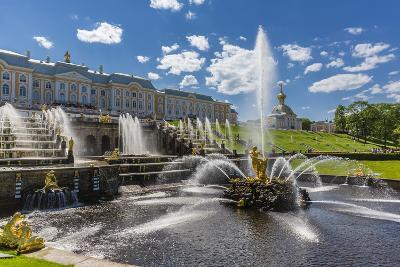 The Grand Cascade of Peterhof, Peter the Great's Palace, St. Petersburg, Russia, Europe-Michael Nolan-Photographic Print
