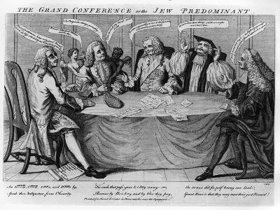 The Grand Conference, or Jew Predominant, 1753--Giclee Print