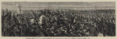 The Grand Duke Nicholas of Russia Announcing the Signing of the Peace to His Troops-Godefroy Durand-Giclee Print