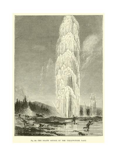 The Grand Geyser of the Yellowstone Park--Giclee Print