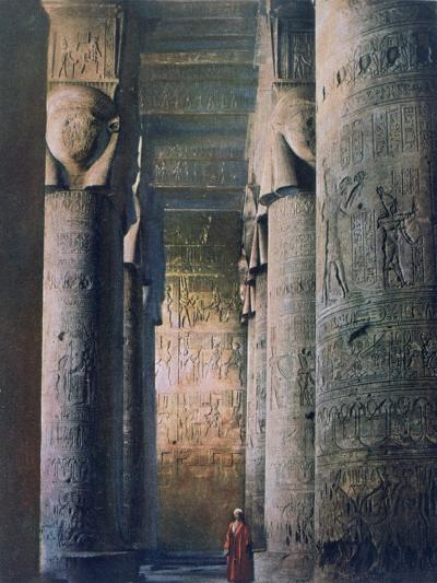 The Grand Hall, Temple of Hathor, Dendera, Egypt, 20th Century--Giclee Print