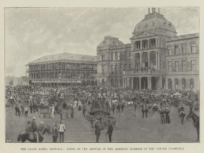 The Grand Hotel, Pretoria, Scene on the Arrival of the Arrested Members of the Reform Committee-Joseph Holland Tringham-Giclee Print