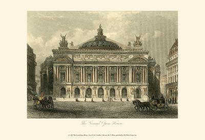 The Grand Opera House, Paris-T^ Allom-Art Print
