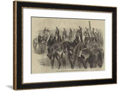 The Grand Review of the French Troops at Constantinople, by the Sultan--Framed Giclee Print