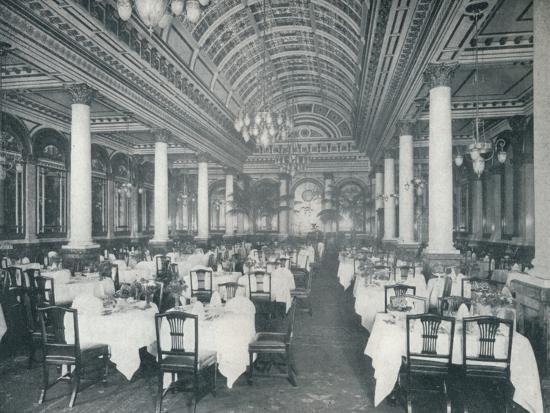 'The Grand Salle A Manger', (Dining Room), 1912-Unknown-Photographic Print