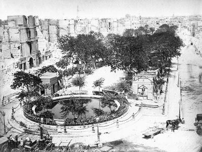 The Grand Square after the Fire, Alexandria, Egypt, C1910S--Giclee Print