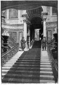 The Grand Staircase, Buckingham Palace, London, 1900
