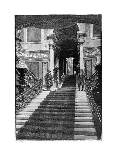 The Grand Staircase, Buckingham Palace, London, 1900--Giclee Print