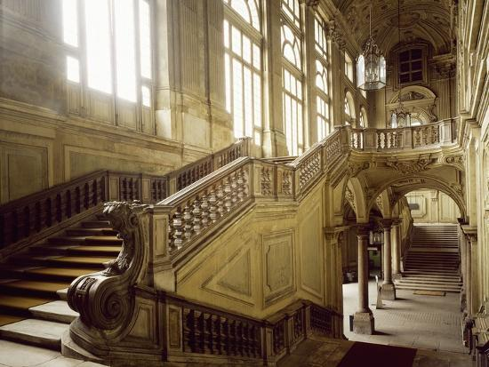 The Grand Staircase, Palazzo Madama--Photographic Print