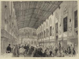 The Grand State Banquet in St George's Hall, Windsor Castle