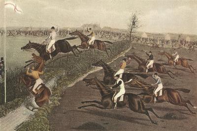 The Grand Steeple Chase II-F.C. Turner-Art Print