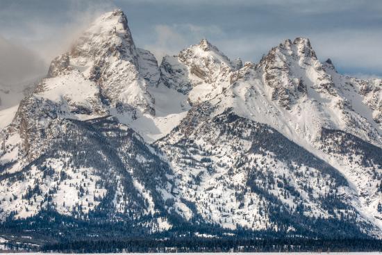 The Grand Teton, Mt. Owen, and Mt. Teewinot in Winter-Greg Winston-Photographic Print