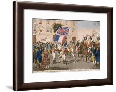 The Grand Triumphal Entry of the Chief Consul into London, 1803--Framed Giclee Print