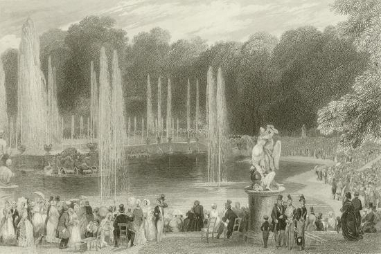 The Grand Waterworks-Eugene-Louis Lami-Giclee Print