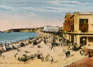 The Grande Plage at Biarritz, with the Casino and the Hotel Du Palais
