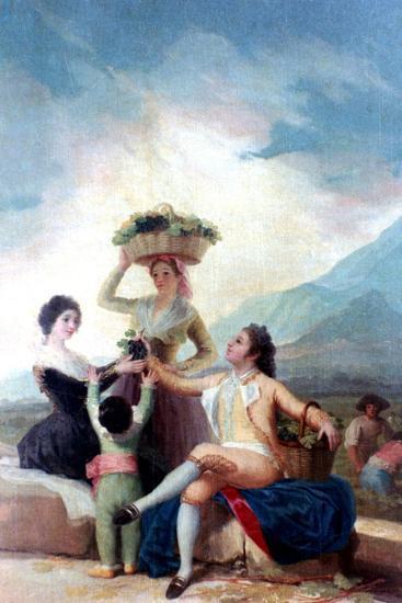 The Grape Harvest, 1786-1787-Francisco de Goya-Giclee Print