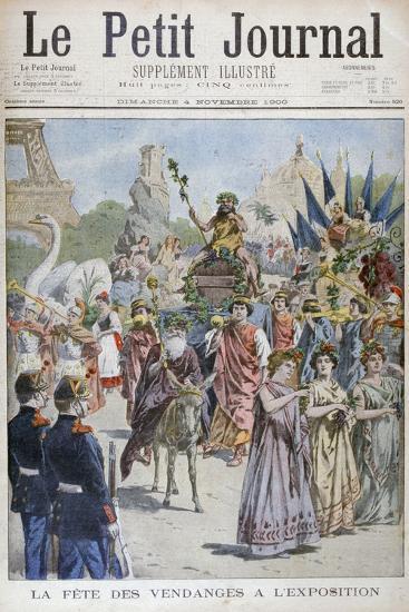The Grape Harvest Festival, Universal Exhibition of 1900, Paris, 1900--Giclee Print