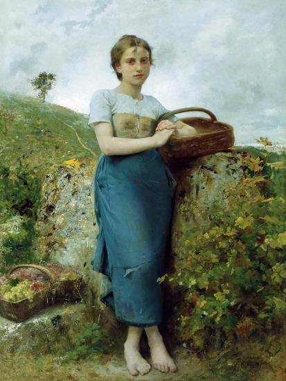 The Grape Picker. 1895-Leon Bazile Perrault-Giclee Print