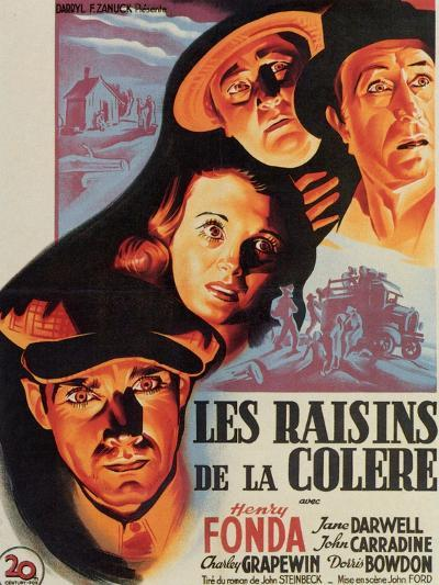 The Grapes of Wrath, French Movie Poster, 1940--Art Print