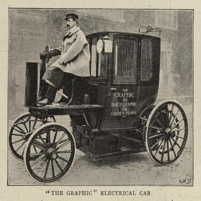 The Graphic Electrical Cab--Giclee Print