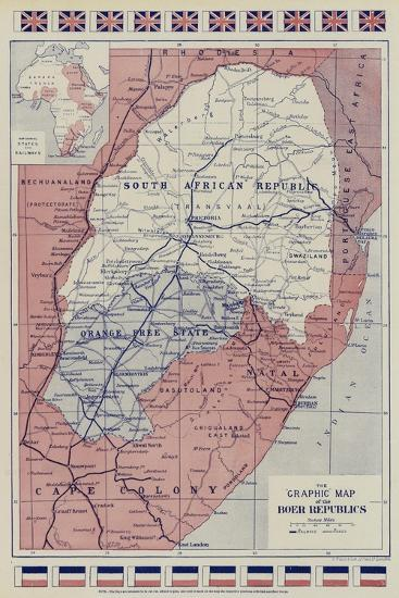 The Graphic Map of the Boer Republics--Giclee Print