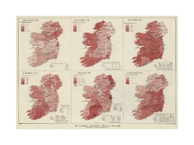 The Graphic Statistical Maps of Ireland--Giclee Print