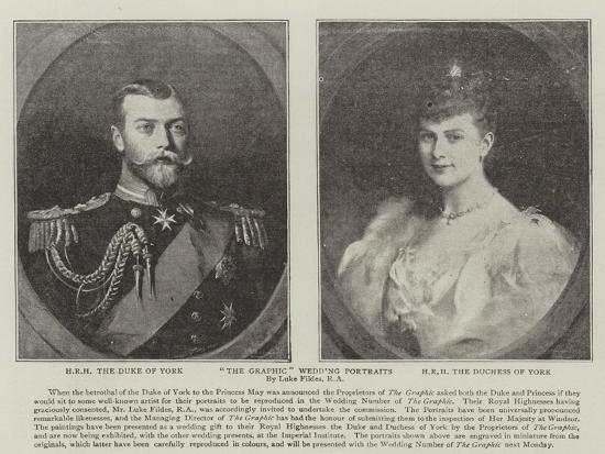 The Graphic Wedding Portraits-Sir Samuel Luke Fildes-Giclee Print