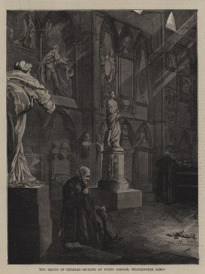 The Grave of Charles Dickens at Poets' Corner, Westminster Abbey--Giclee Print