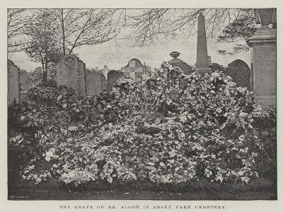 The Grave of Dr Allon in Abney Park Cemetery--Giclee Print