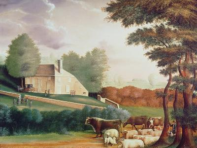 The Grave of William Penn-Edward Hicks-Giclee Print