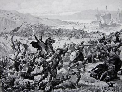 The Great Battle of Brunanburgh, 937, Illustration from the Book The History of the Nation-Alfred Pearse-Giclee Print