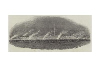 The Great Britain Steam-Ship Leaving Cumberland Basin, Bristol--Giclee Print