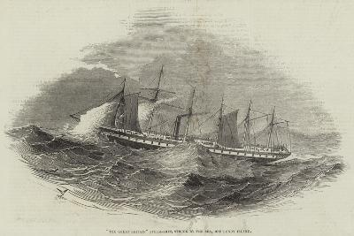 The Great Britain Steam-Ship, Struck by the Sea, Off Lundy Island--Giclee Print