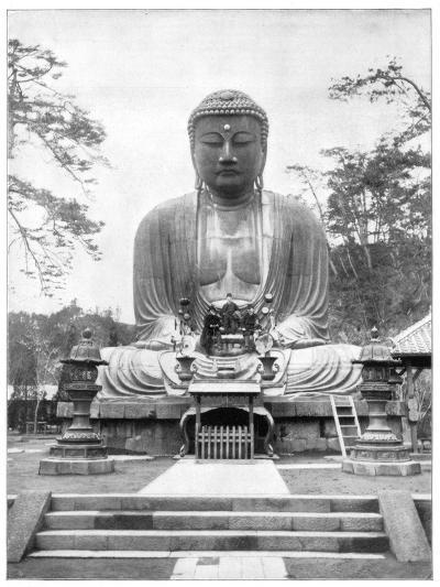 The Great Bronze Buddha, Japan, Late 19th Century-John L Stoddard-Giclee Print
