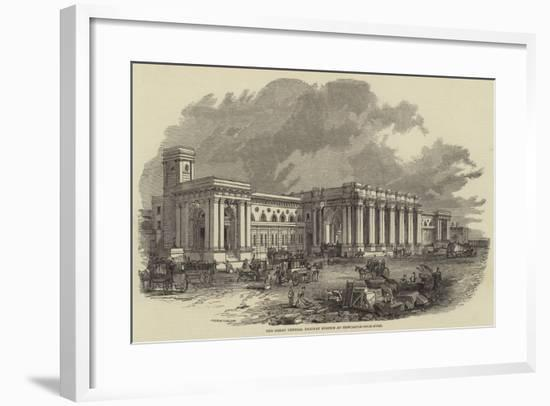 The Great Central Railway Station at Newcastle-Upon-Tyne--Framed Giclee Print