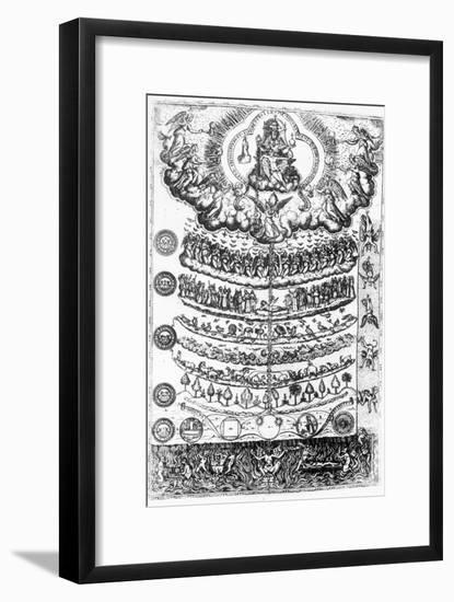 The Great Chain of Being from 'Retorica Christiana' by Didacus Valades, Printed in 1579--Framed Giclee Print