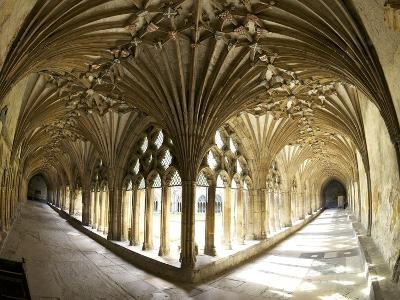 The Great Cloisters, Canterbury Cathedral, UNESCO World Heritage Site, Canterbury, Kent, England-Peter Barritt-Photographic Print