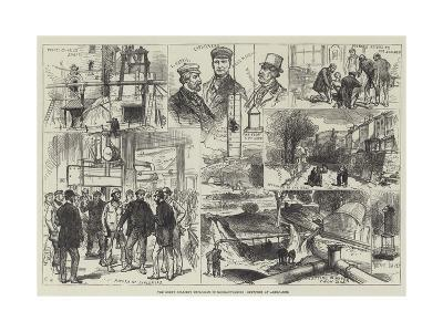The Great Colliery Explosion in Monmouthshire, Sketches at Abercarne-Charles Robinson-Giclee Print
