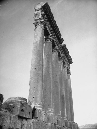 The Great Columns of the Temple of Jupiter in Ruins-Margaret Bourke-White-Photographic Print