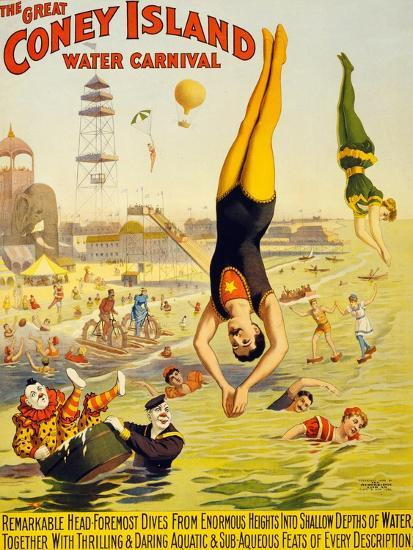 The Great Coney Island Water Carnival,--Art Print