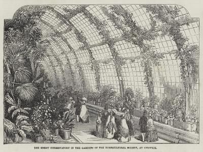 The Great Conservatory in the Gardens of the Horticultural Society, at Chiswick--Giclee Print