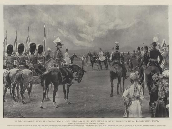 The Great Coronation Review at Aldershot-Richard Caton Woodville II-Giclee Print
