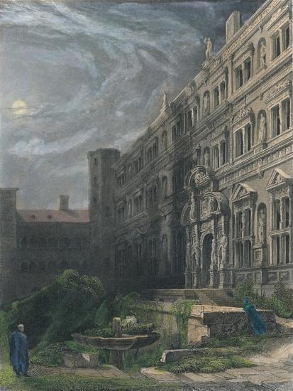 The Great Court of Heidelberg, 1834-Henry Winkles-Giclee Print