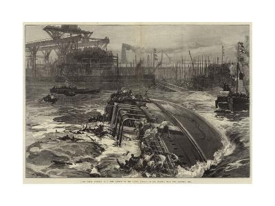 The Great Disaster at a Ship Launch on the Clyde, Sinking of the Daphne, with Two Hundred Men-William Heysham Overend-Giclee Print