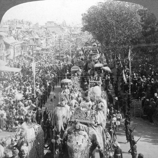 The Great Durbar Procession, Delhi, India, 1903-Underwood & Underwood-Giclee Print