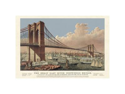 The Great East River Suspension Bridge, 1877--Giclee Print