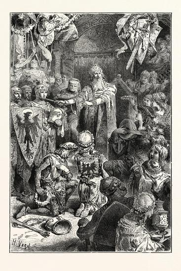 The Great Emperor Frederick Barbarossa Holds His Court at Mayence--Giclee Print
