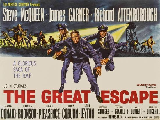 The Great Escape, UK Movie Poster, 1963' Art Print | Art.com