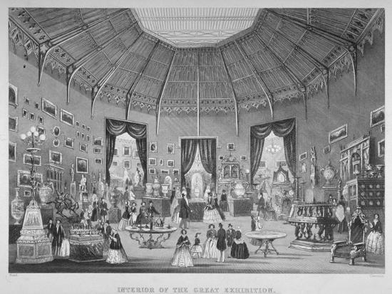 The Great Exhibition, Hyde Park, Westminster, London, 1851-Jean-Marie Chavanne-Giclee Print