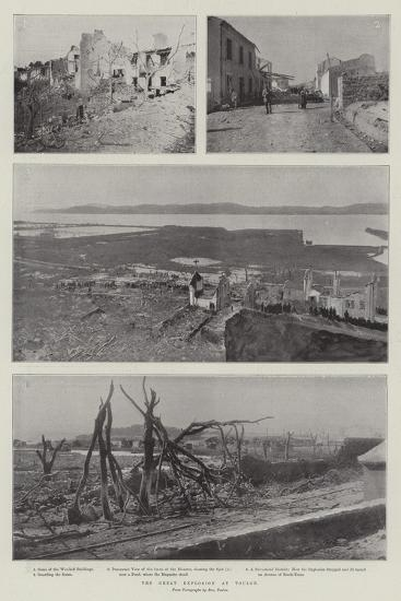 The Great Explosion at Toulon--Giclee Print